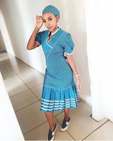 Trendy African Traditional Shweshwe Dress 2021 (18)