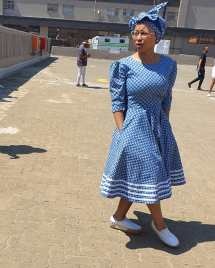 Trendy African Traditional Shweshwe Dress 2021 (5)