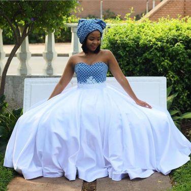 Trendy African Traditional Shweshwe Dress 2021 (7)