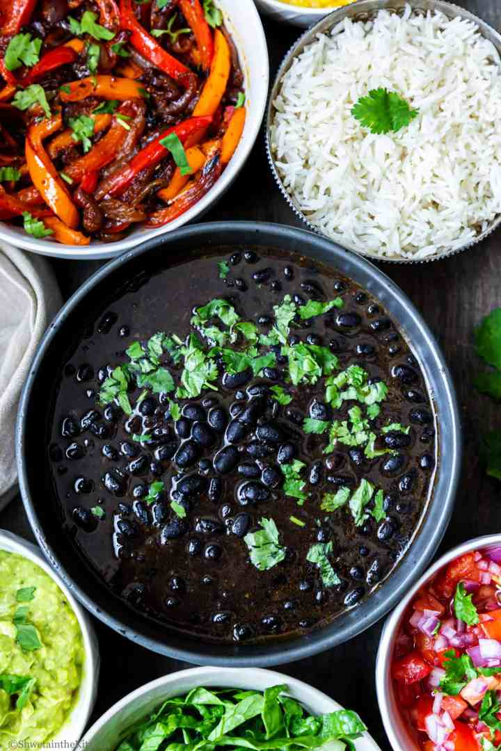 black beans curry with rice