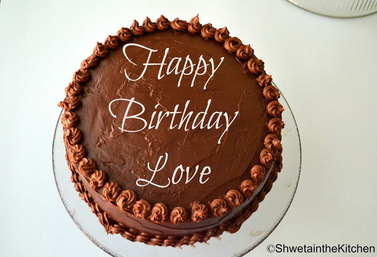 Astounding Birthday Cake Chocolate Cake With Sourcream Filling Ganache Personalised Birthday Cards Veneteletsinfo