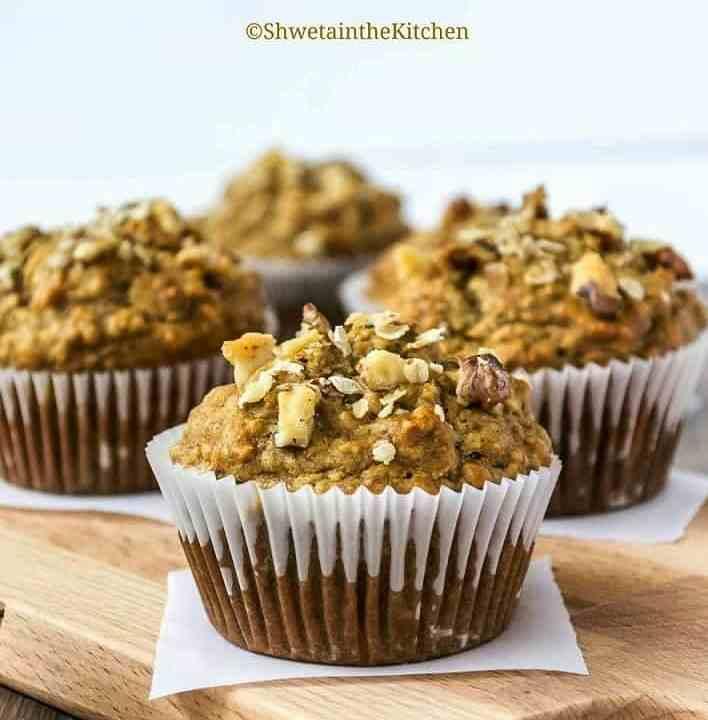 Wholewheat banana muffins