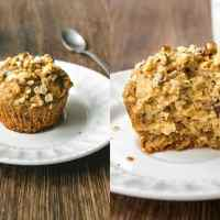 Eggless WholeWheat Banana Oatmeal Muffins