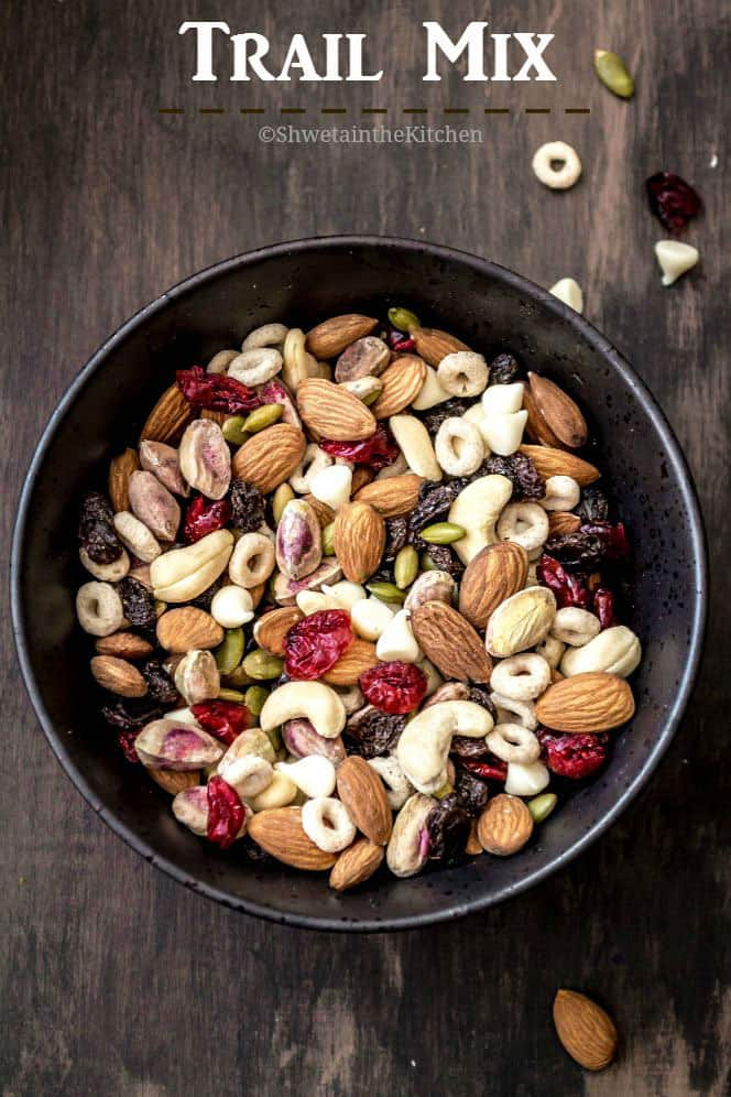 Healthy Trail Mix Recipe Shweta In The Kitchen