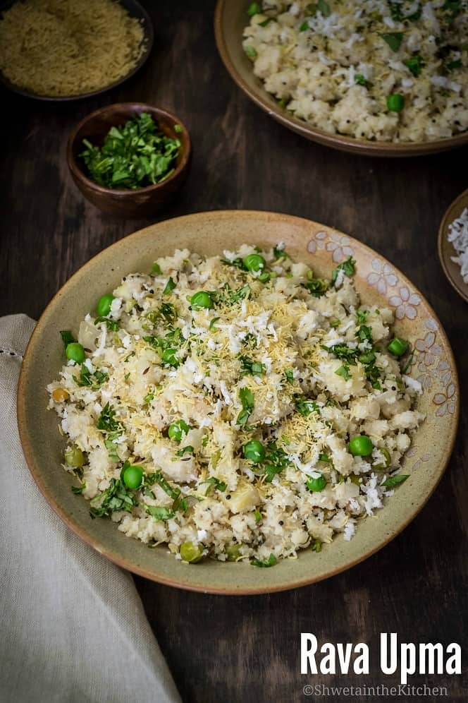 Upma recipe rava upma recipe shweta in the kitchen rava upma is a classic indian breakfast made with roasted semolina also known as suji its a thick savory porridge that is extremely popular breakfast in forumfinder Gallery