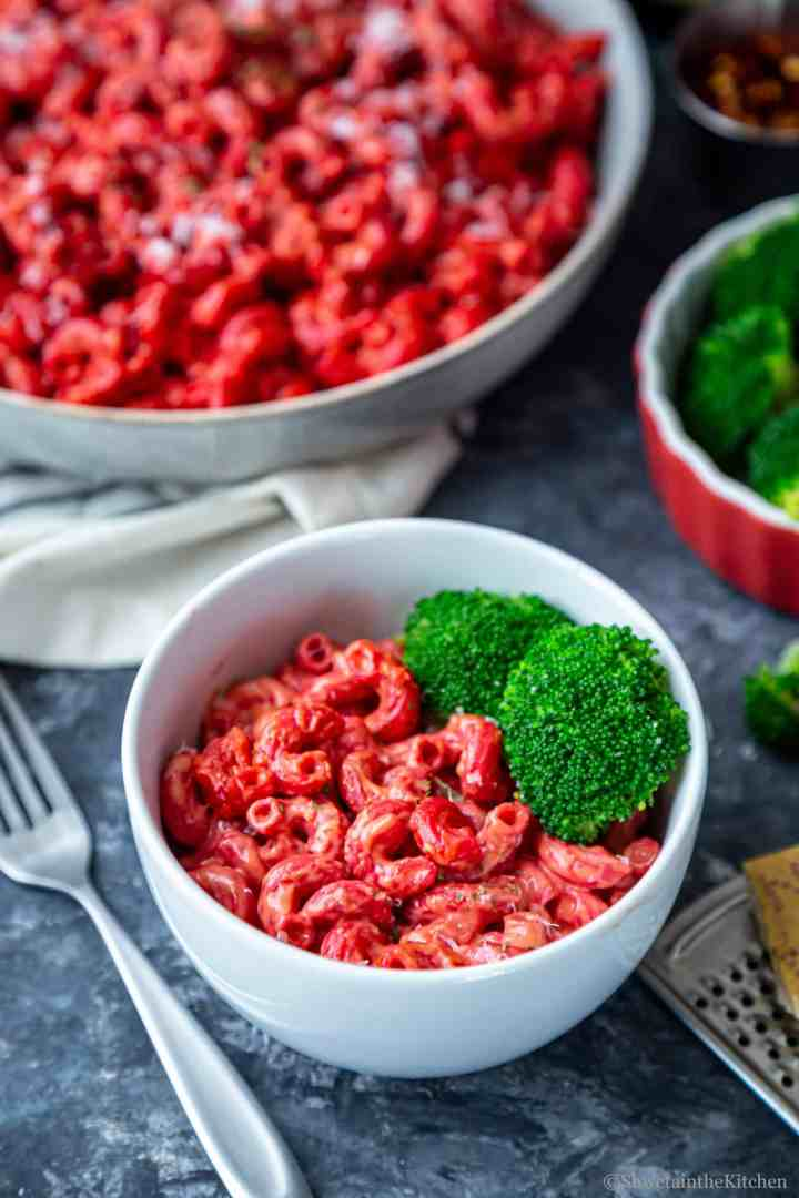 Beet and Carrot Mac and Cheese