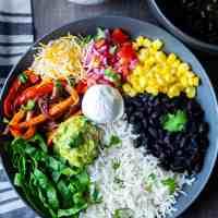 Easy Vegetarian Burrito Bowls