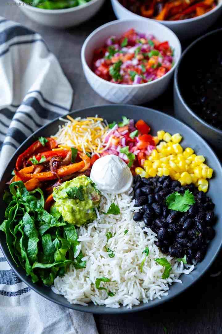 Chitpotle Style homemade Vegetarian Burrito Bowl