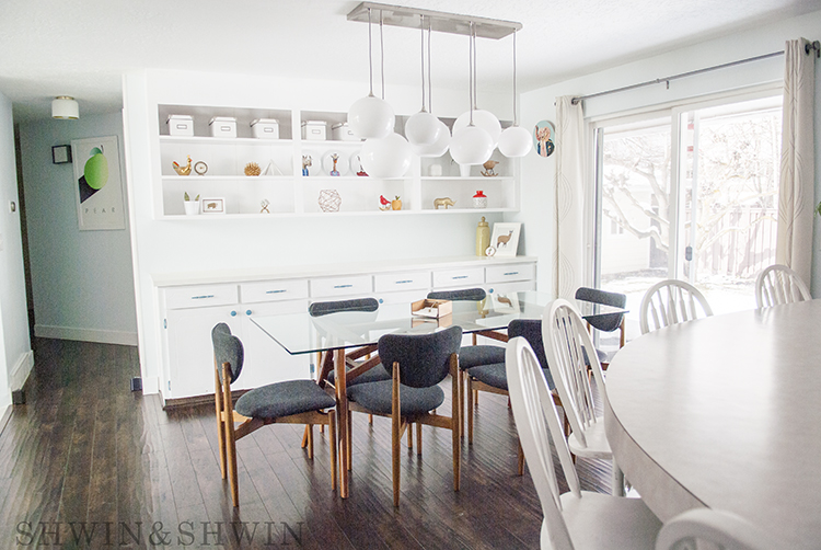 Mid Century Modern Dining Room || Renovation || Shwin and Shwin