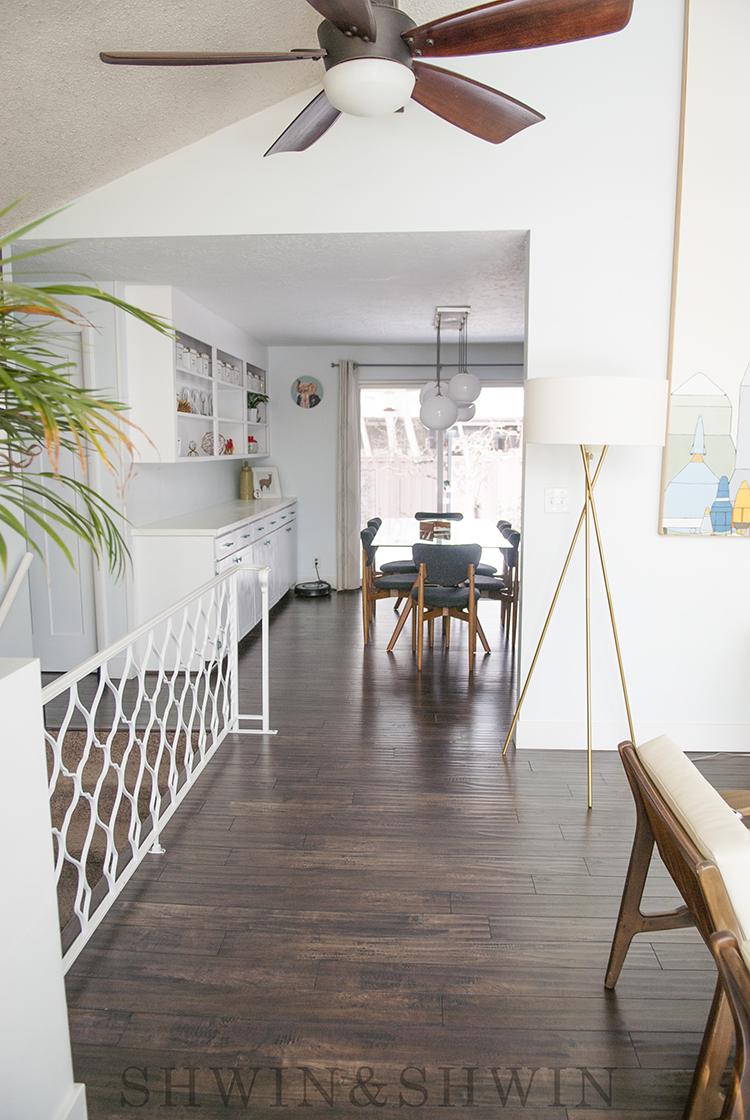 Mid century modern home renovation ||Dining Room