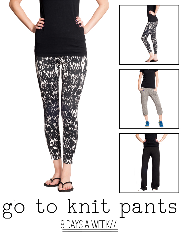 8 Days a Week Collection || Go to knit pants || Women's Pattern