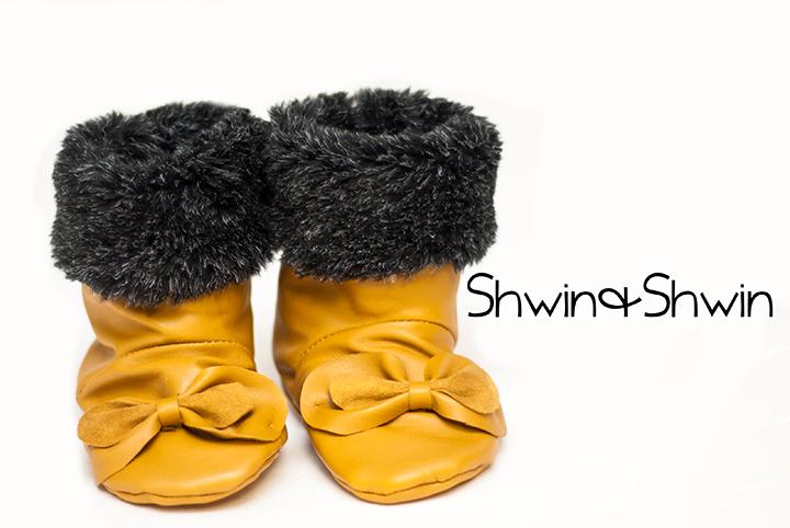 Baby Bow Boots || Free PDF Pattern || Shwin&Shwin