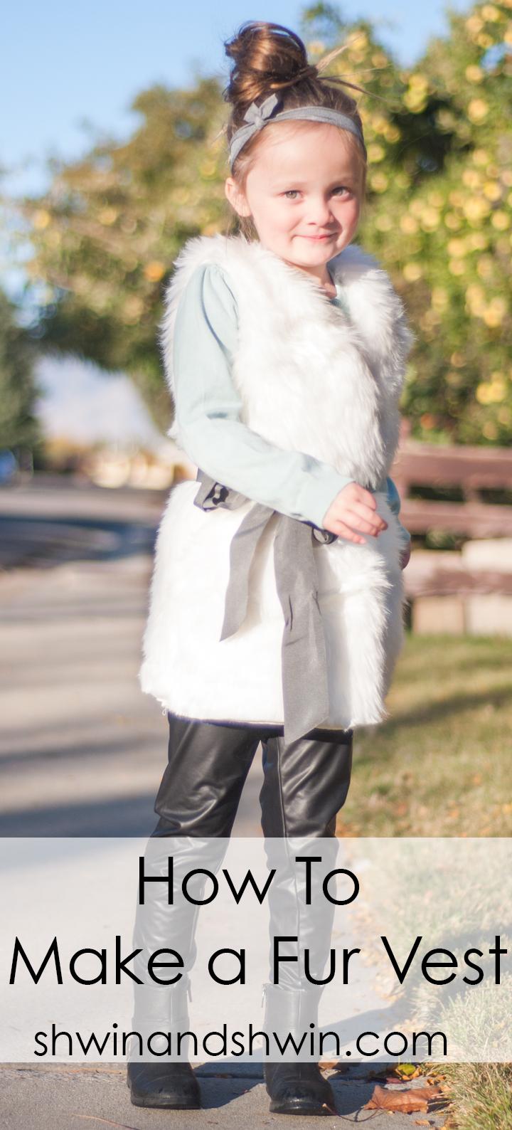 How to make a fur vest || Shwin&Shwin