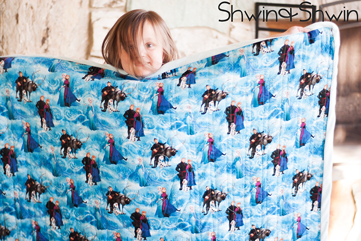Simple Olaf Frozen Quilt Free Pattern and Tutorial Shwin uShwin