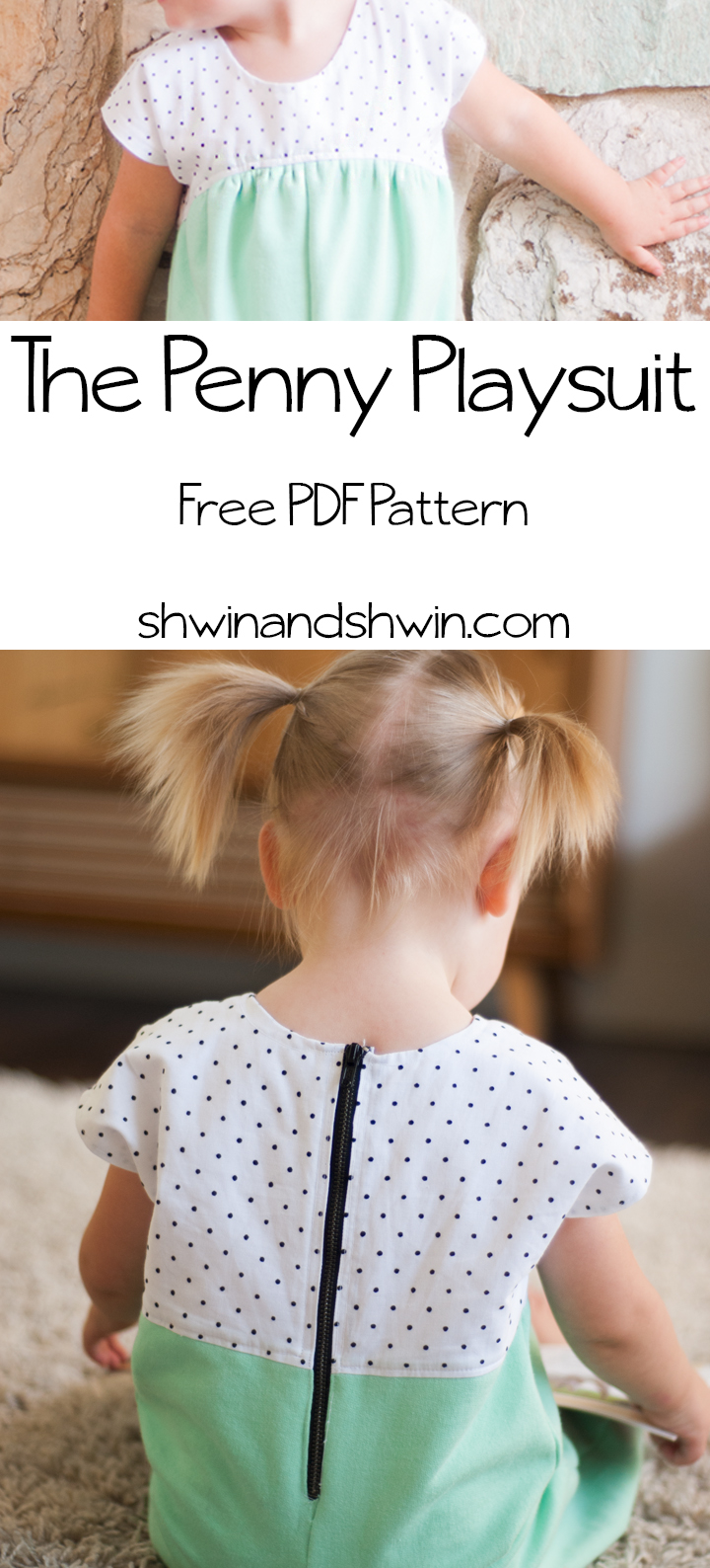 The Penny Playsuit || Free PDF Pattern || Shwin&Shwin