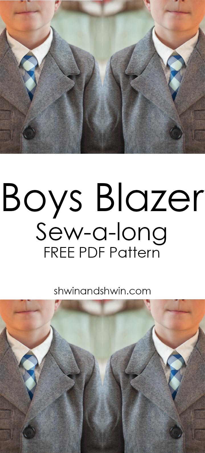 Boys Blazer Pattern Sew-a-long    Shwin&Shwin