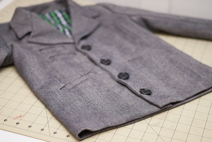 Boys Blazer Pattern Sew-a-long ||FREE PDF Pattern || Finishing up