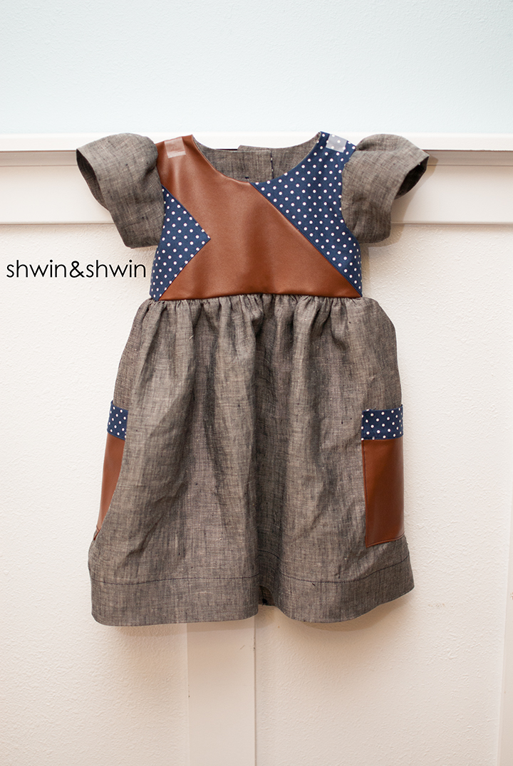 Pieced Bodice Dress || Leather&Linen || Free PDF Pattern || Shwin&Shwin