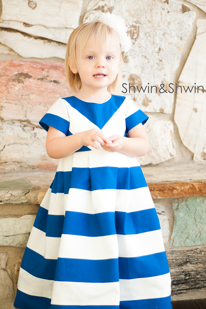 How to make a chevron bodice || Free Dress Pattern 12m-8Y || Shwin&Shwin