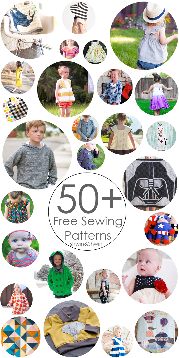 50+ Free Sewing Patterns || For Baby || For Boys || For Girls || For Home