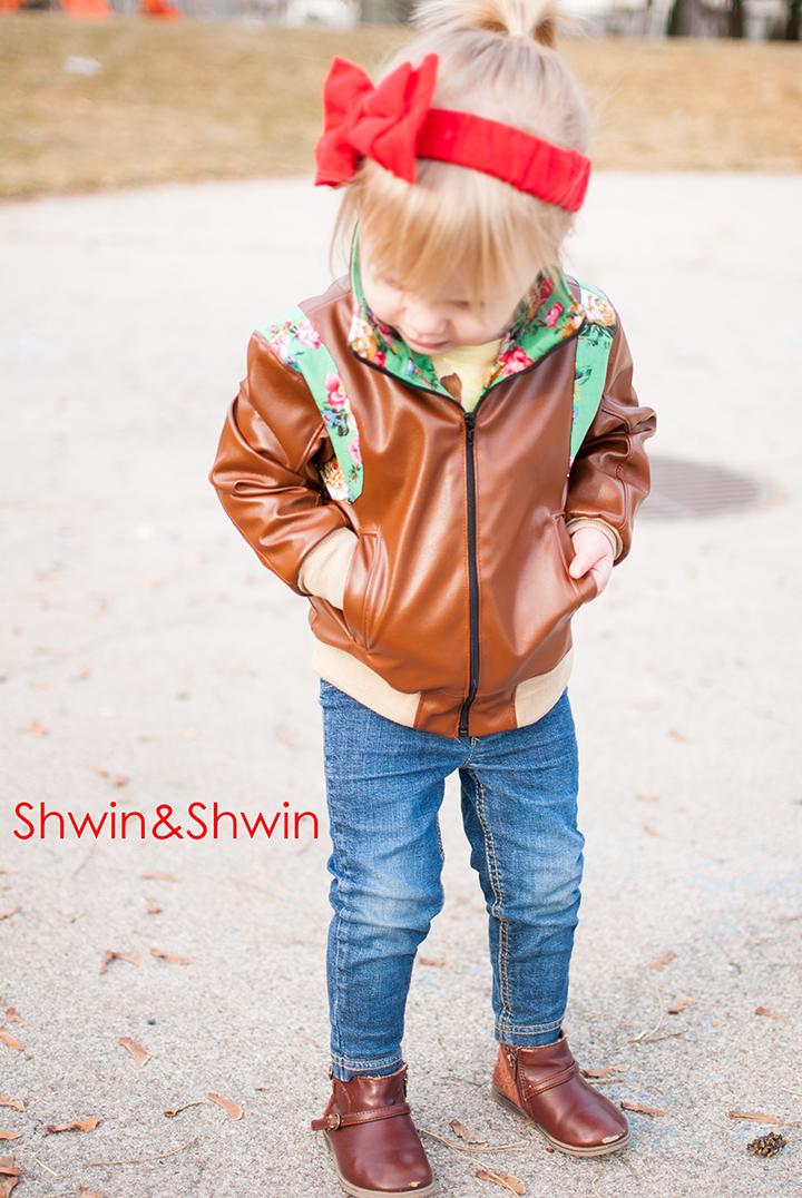 Faux Leather Imagine Jacket || Shwin&Shwin