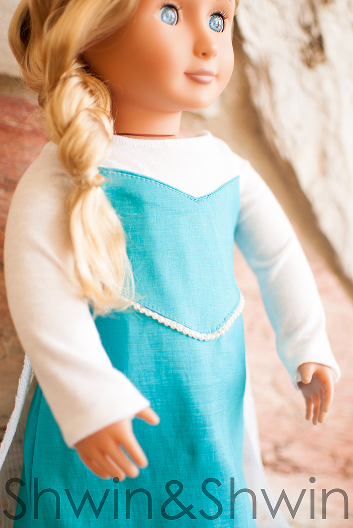 Elsa Inspired Doll Dress || Free PDF Pattern || Shwin&Shwin
