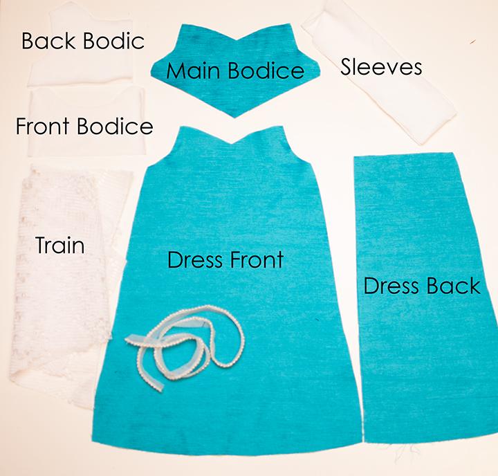 Elsa Inspired Doll Dress Pattern - Shwin and Shwin