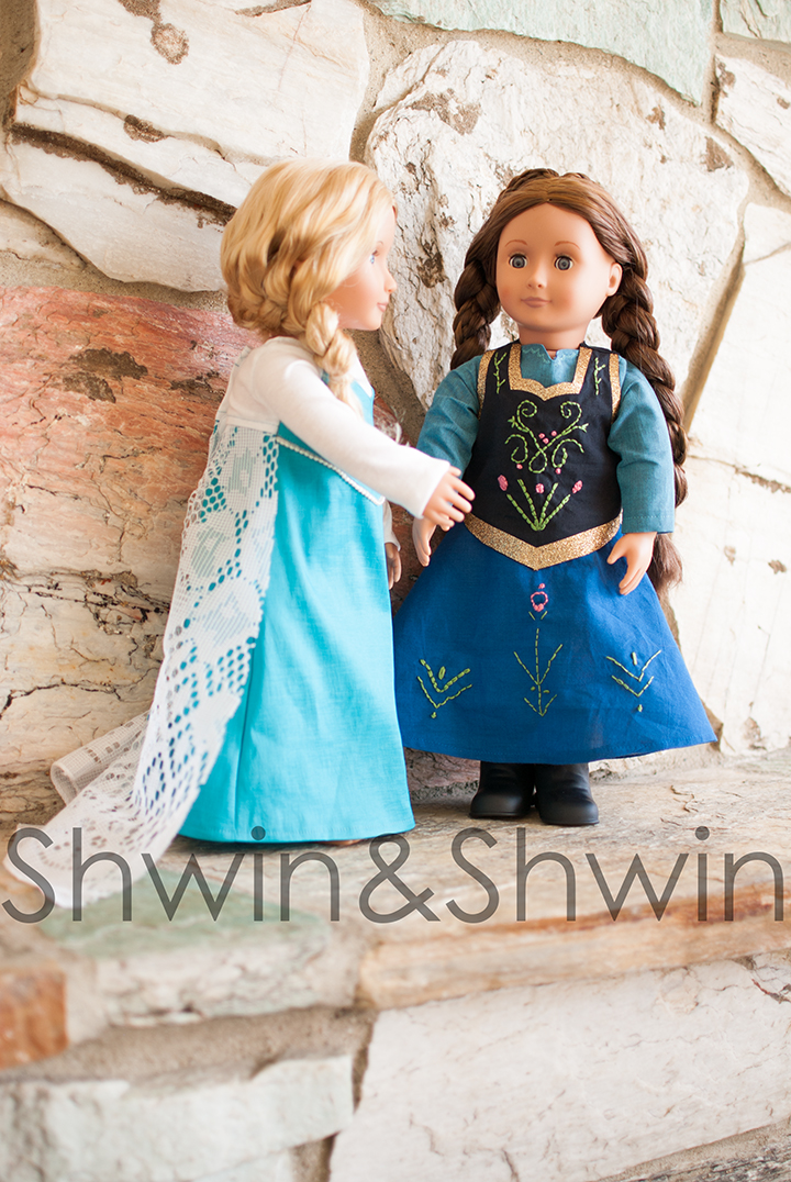 Anna Inspired Doll Dress || FREE Pattern || Shwin&Shwin
