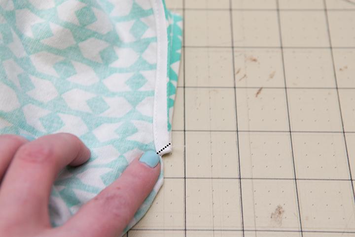 How to sew a bias bound hem and placket    Georgia Twirl Dress    Shwin&Shwin