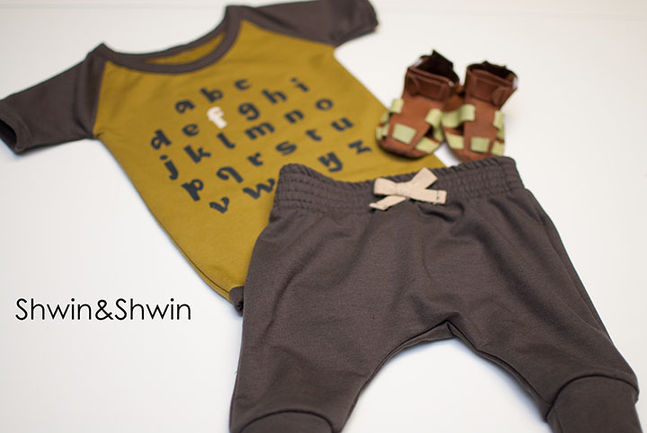 How to make a Raglan Onesie || Free Pattern || Modern Baby Clothes || Shwin&Shwin