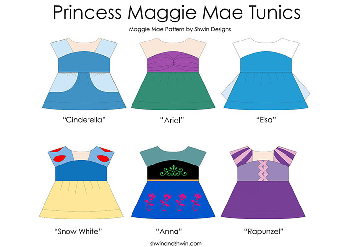 Everyday Princess Outfit from the Maggie Mae Sewing pattern || Snow White || Shwin&Shwin