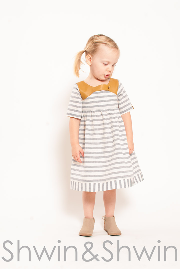 Linen+Leather Dress || Free PDF Pattern sizes 12m-8Y