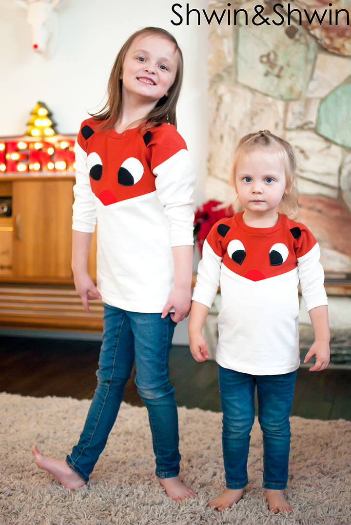 DIY Rudolph Tee || Shwin&Shwin  Made using the Lucille Top Pattern