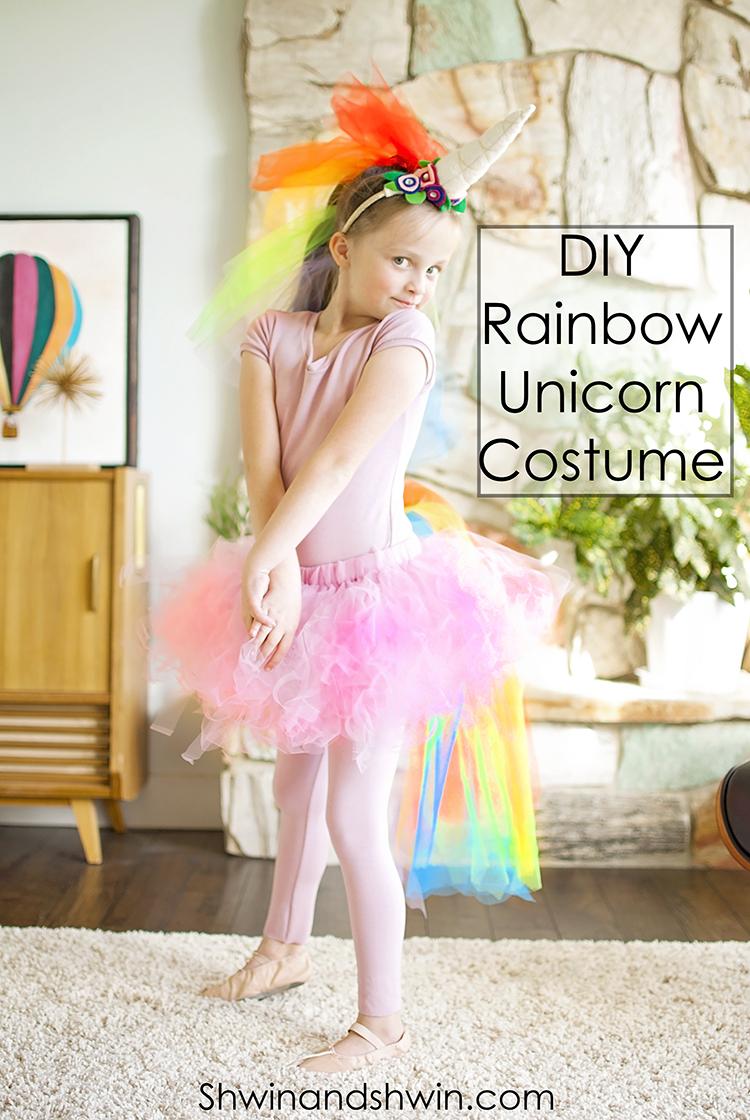 DIY Rainbow Unicorn Costume || #Unicorn #Costume #Halloween  sc 1 st  Shwin and Shwin & DIY Rainbow Unicorn Costume - Shwin and Shwin