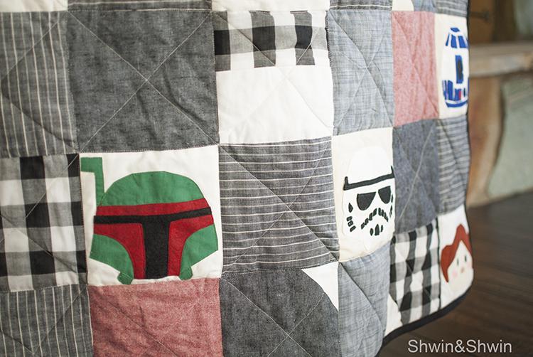 "Star Wars ""tsum tsum"" Quilt || Free Templates || Shwin&Shwin"