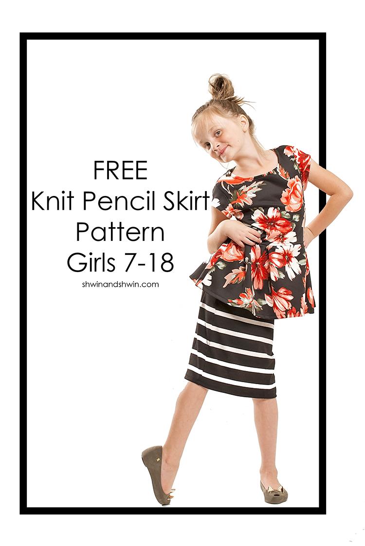 Free Knit Pencil Skirt Pattern - Shwin and Shwin