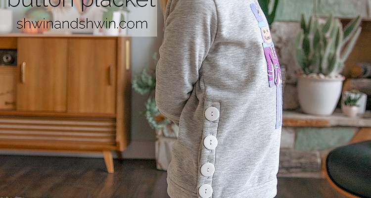 How to add a button placket