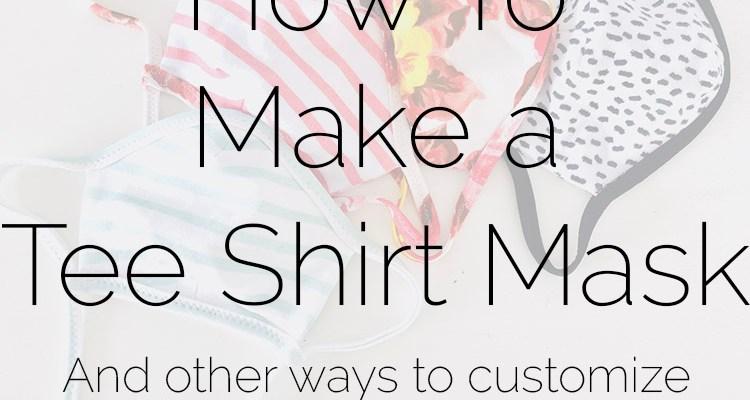 How to make an adjustable tee shirt mask