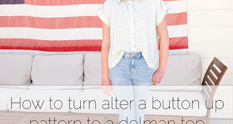 How to make a pattern a dolman sleeve