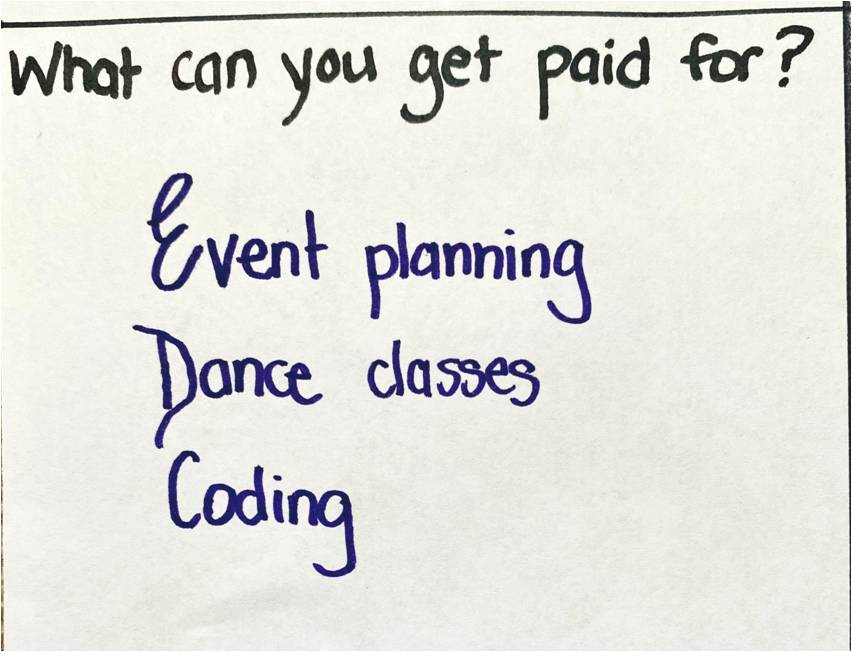 What can you get paid for?