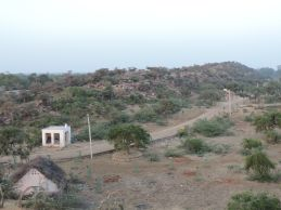 The Southern end of the Govardhan Hill, near Punchari.