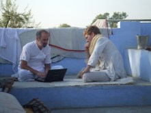 2006 computer session on Ramkumvarbai's roof