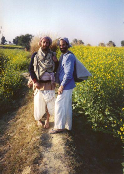 Premdas David Haberman and Shyamdas on a Braj walk