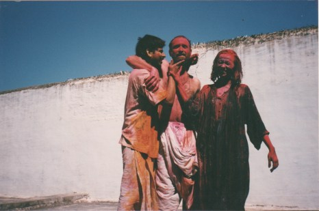 Holi play with friends