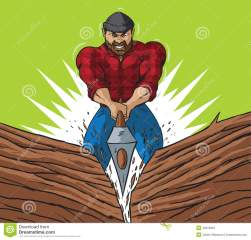 lumberjack-chop-cartoon-drawing-working-40318953