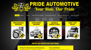 Pride Automotive Website 2013