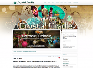 Crystal Cradle Ecommerce Website 2011