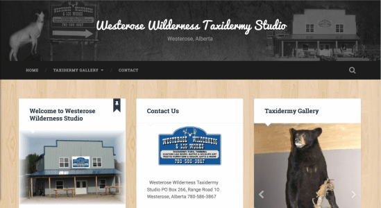 2015 Westerose Wilderness & Log Studio Website Wordpress