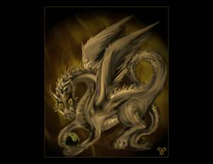 Spirit Of Golden Fire Dragon By Book Of Light