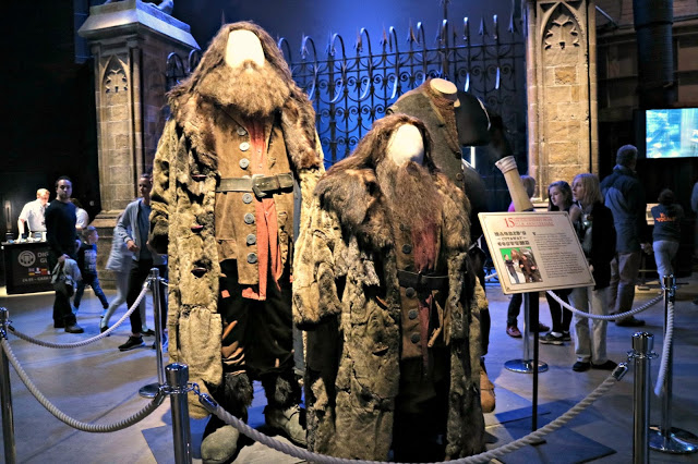 Hagrid's costumes inside the Warner Bros Studio Tour